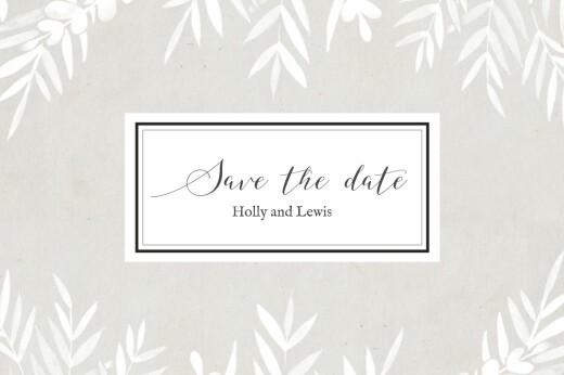 Save The Dates Foliage gray