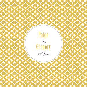 Radiance yellow mr & mrs clynk  wedding invitations