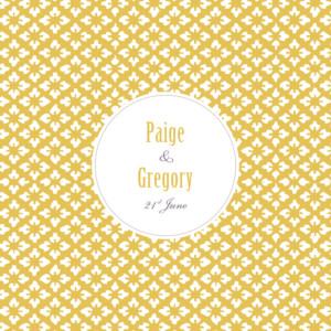 Wedding Invitations Radiance yellow