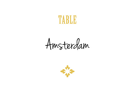 Wedding Table Numbers Radiance yellow