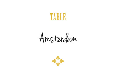 Wedding Table Numbers Radiance yellow finition
