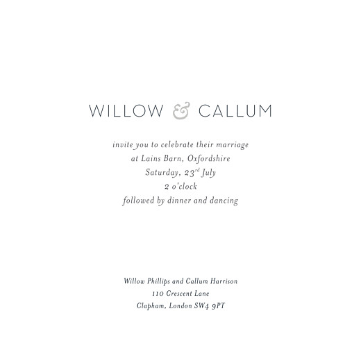 Wedding Invitations Forest whisper (4 pages) green