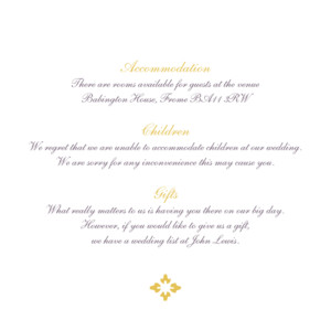 Guest Information Cards Radiance yellow