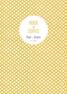 Order of Service Booklets Radiance yellow