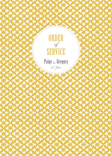 Wedding Order of Service Booklets Radiance yellow