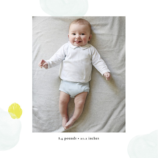 Baby Announcements Watercolour splash (4 pages) blue yellow - Page 2