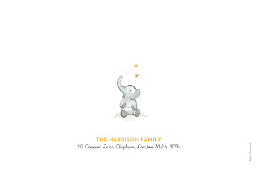 Baby Announcements Elephant family of 3 yellow - Page 4