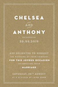 Wedding Invitations Declaration kraft