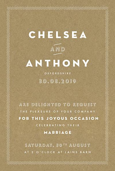 Wedding Invitations Declaration kraft finition
