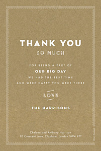 Wedding Thank You Cards Declaration kraft