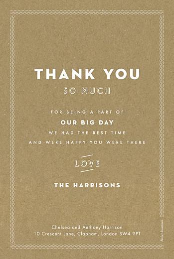 Wedding Thank You Cards Declaration kraft