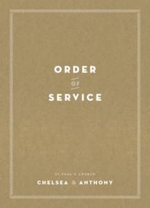 Order of Service Booklets Declaration kraft