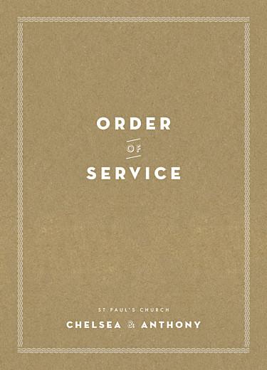 婚礼订购服务小册子声明卡夫