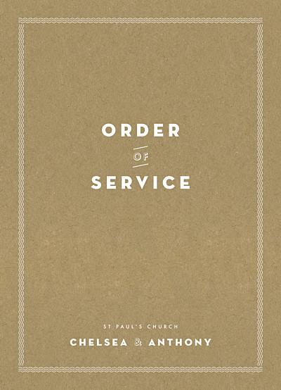 服务小册子宣言牛皮纸FINITION的婚礼订单
