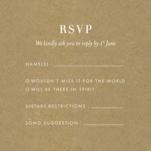 RSVP Cards Kraft essential violet-blue
