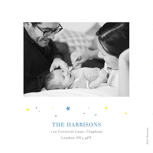 Baby Announcements Liberty stars photo (4 pages) blue - Page 4