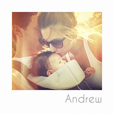 Baby Announcements Mini polaroid white finition