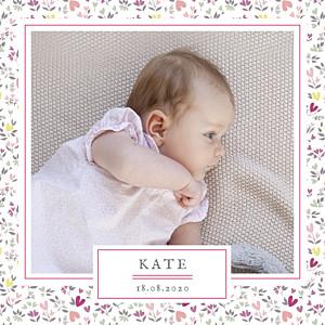 Personalised Baby Announcements | Free Samples | Rosemood