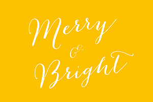 Merry merry yellow yellow christmas cards