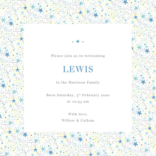 Baby Announcements Liberty stars photo (4 pages) blue - Page 3