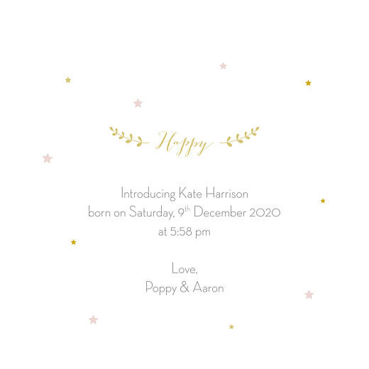 Baby Announcements Lovely family (4 pages) girl - Page 3