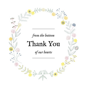 Baby Thank You Cards Rustic floral white