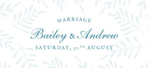 Wedding Gift Tags Fern foray blue