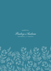 Order of Service Booklets Fern foray blue