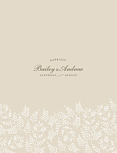 Wedding Invitations Fern foray beige