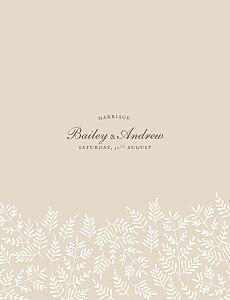 Fern foray beige beige wedding invitations