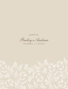 Wedding Invitations Fern foray beige