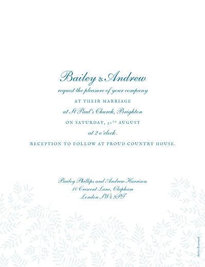Wedding Invitations Fern foray blue - Page 2