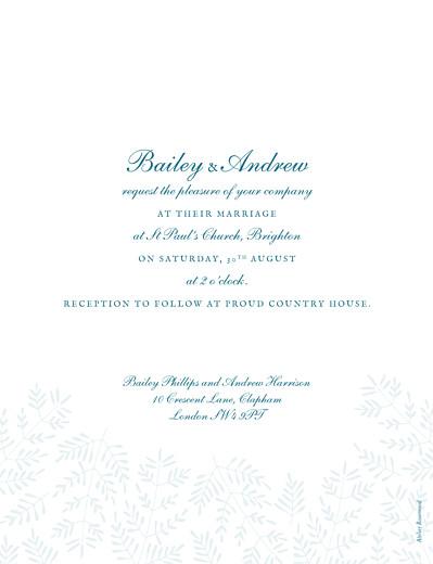 Wedding Invitations Fern foray blue