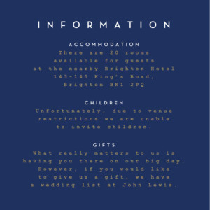 Guest Information Cards Confetti blue
