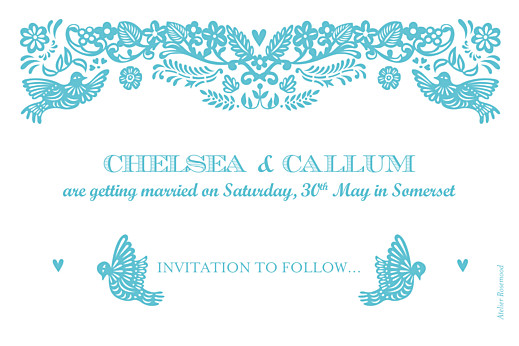 Save The Date Cards Papel picado blue - Page 2
