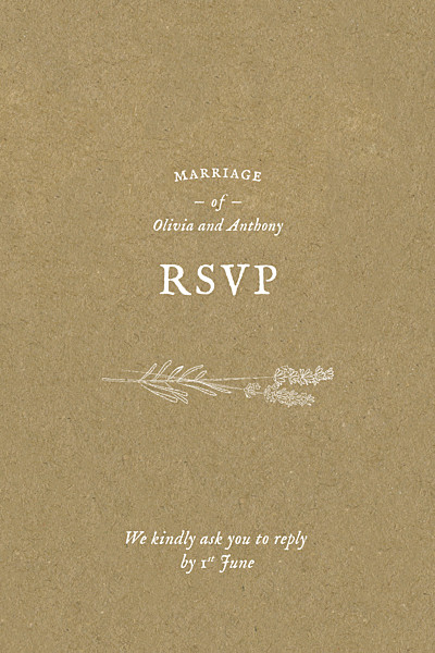 RSVP Cards Provence kraft finition