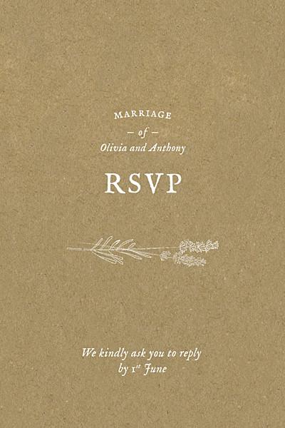 RSVP Cards Provence kraft finition
