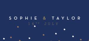 Wedding Gift Tags Confetti blue