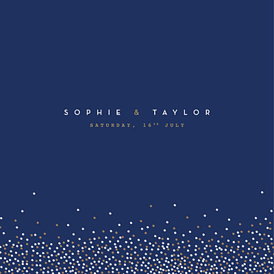 Wedding Invitations Confetti blue finition