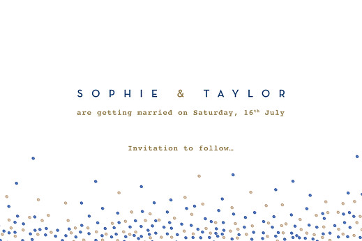 Save The Date Cards Confetti blue - Page 2