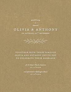 Provence kraft brown wedding invitations