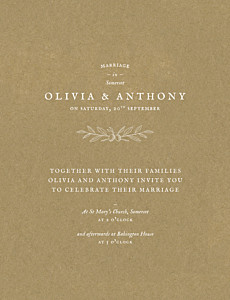 Provence kraft brown wedding invitations