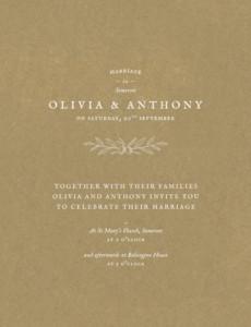 Provence (4 Pages) Wedding Menus - Atelier Rosemood