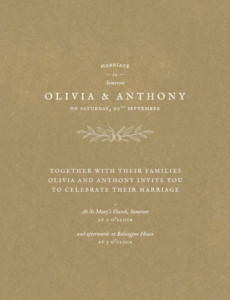 Wedding Invitations Provence kraft