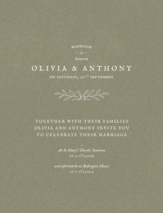 Wedding Invitations Provence green