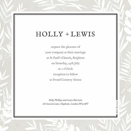 Wedding Invitations Foliage gray