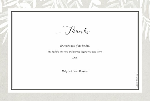 Wedding Thank You Cards Foliage gray - Page 2