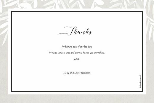 Wedding Thank You Cards Foliage gray