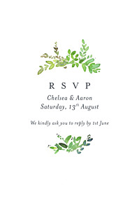 Canopy green rsvp cards