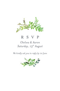 RSVP Cards Canopy green